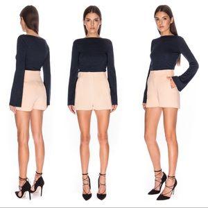 Keepsake Horizon peach high-waisted Shorts